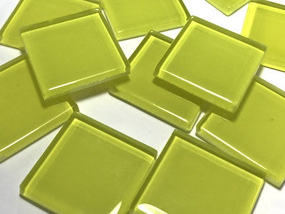 Yellow No. 4 Glass Mosaic Tiles 2.5cm