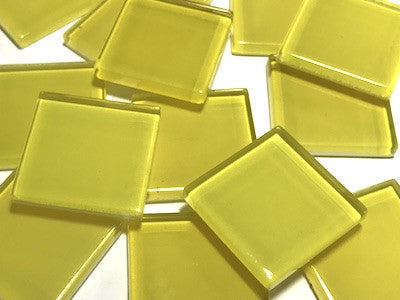 Yellow No. 5 Glass Mosaic Tiles 2.5cm