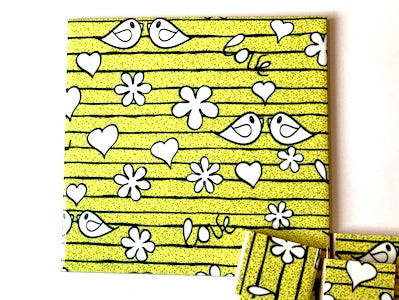 Yellow Birds Ceramic Tiles 10x10cm