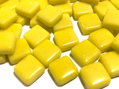 Yellow Gloss Glass Tiles 1cm