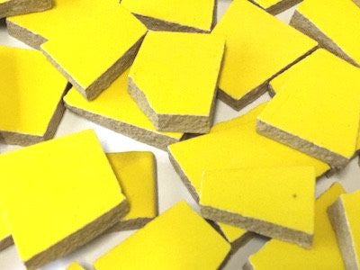 yellow irregular ceramic tiles