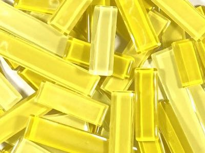 Yellow Mixed Glass Rectangles