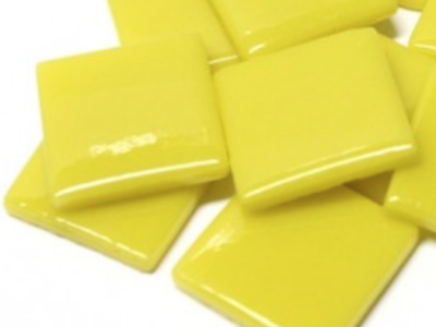 Yellow Opal Gloss Glass Tiles 2.5cm