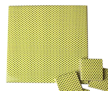 Yellow Polka Dots Ceramic Tiles 10x10cm