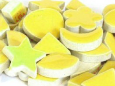 Yellow Ceramic Charms