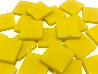 Yellow Gloss Glass Tiles 2.3cm