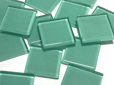 Aqua Green No. 2 Glass Mosaic Tiles 2.5cm
