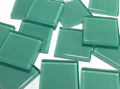 Aqua Green No. 3 Glass Mosaic Tiles 2.5cm