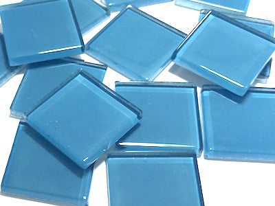 Blue No. 5 Glass Mosaic Tiles 2.5cm