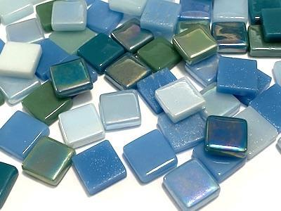 Seascape Mixed 12mm Glass Tiles