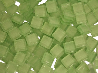 Light Green Crystal Glass Mosaic Tiles 1cm
