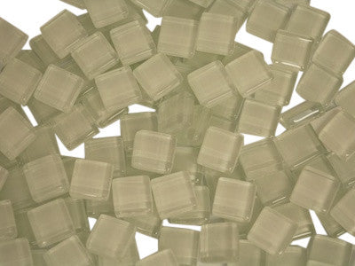 White Crystal Glass Mosaic Tiles 1cm