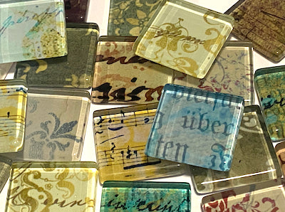 Damask Vintage Glass Tiles 2.5cm (HM)