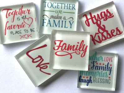 'Family' Themed Glass Tiles