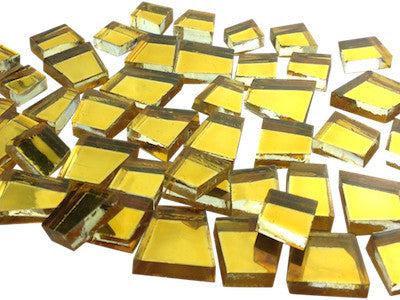 gold irregular mirror tiles mosaic