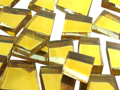 gold irregular mirror tiles