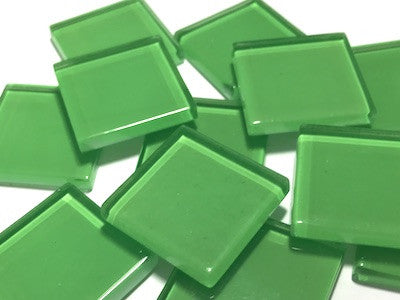 Green No. 2 Glass Mosaic Tiles 2.5cm