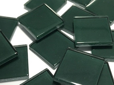 Green No. 5 Glass Mosaic Tiles 2.5cm