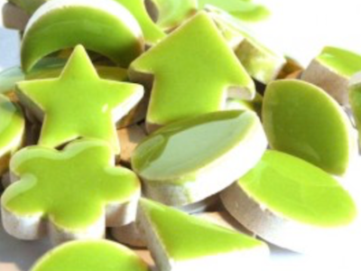 Green Ceramic Charms