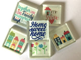 'Home' Themed Glass Tiles