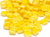 Iridised yellow 8mm glass tiles