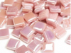 pink iridised glass tiles 12mm
