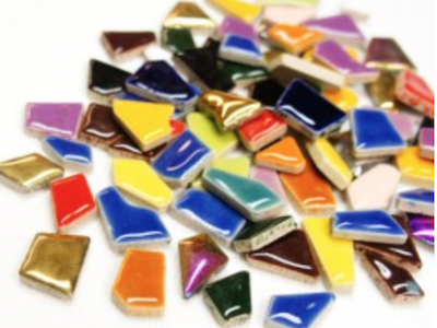 Mixed Ceramic Puzzle Pieces