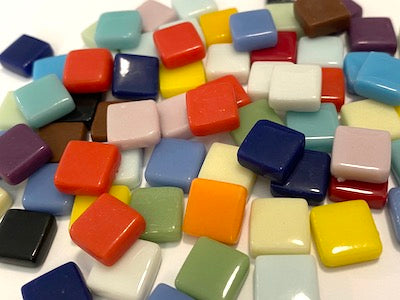 Mixed Gloss Glass Tiles 1cm