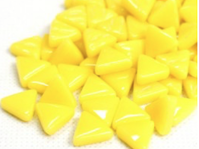yellow glass triangles