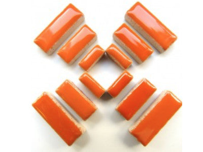 orange ceramic rectangles