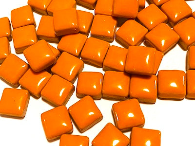Orange Square Ceramic Tiles 1cm