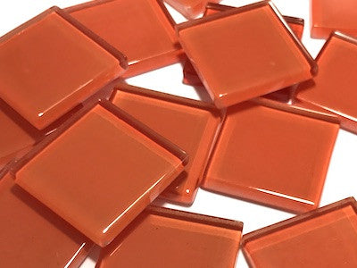 Orange No. 7 Glass Mosaic Tiles 2.5cm