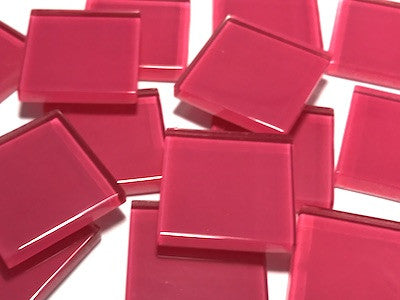 Pink No. 4 Glass Mosaic Tiles 2.5cm