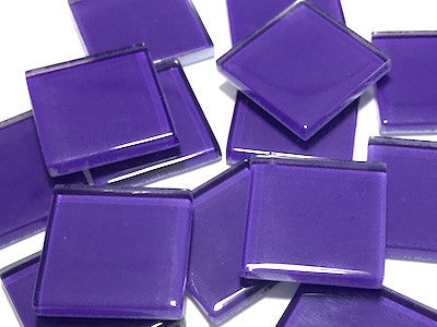 Purple No. 4 Glass Mosaic Tiles 2.5cm