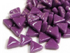 purple glass triangles
