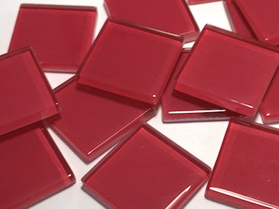 Red No. 1 Glass Mosaic Tiles 2.5cm
