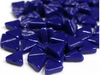 royal blue glass triangles