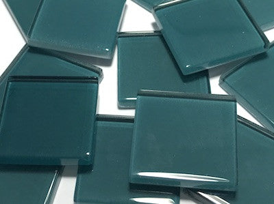 Teal No. 3 Glass Mosaic Tiles 2.5cm