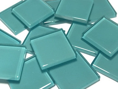 Turquoise No. 1 Glass Mosaic Tiles 2.5cm