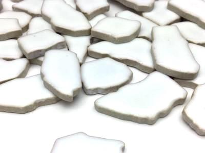 White Ceramic Puzzle Pieces