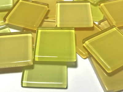 Mixed Yellow Glass Mosaic Tiles 2.5cm