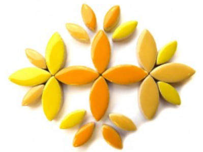 Yellow & Orange Mixed Ceramic Petals