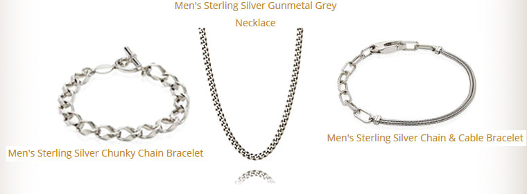 Mens Sterling Silver Chain