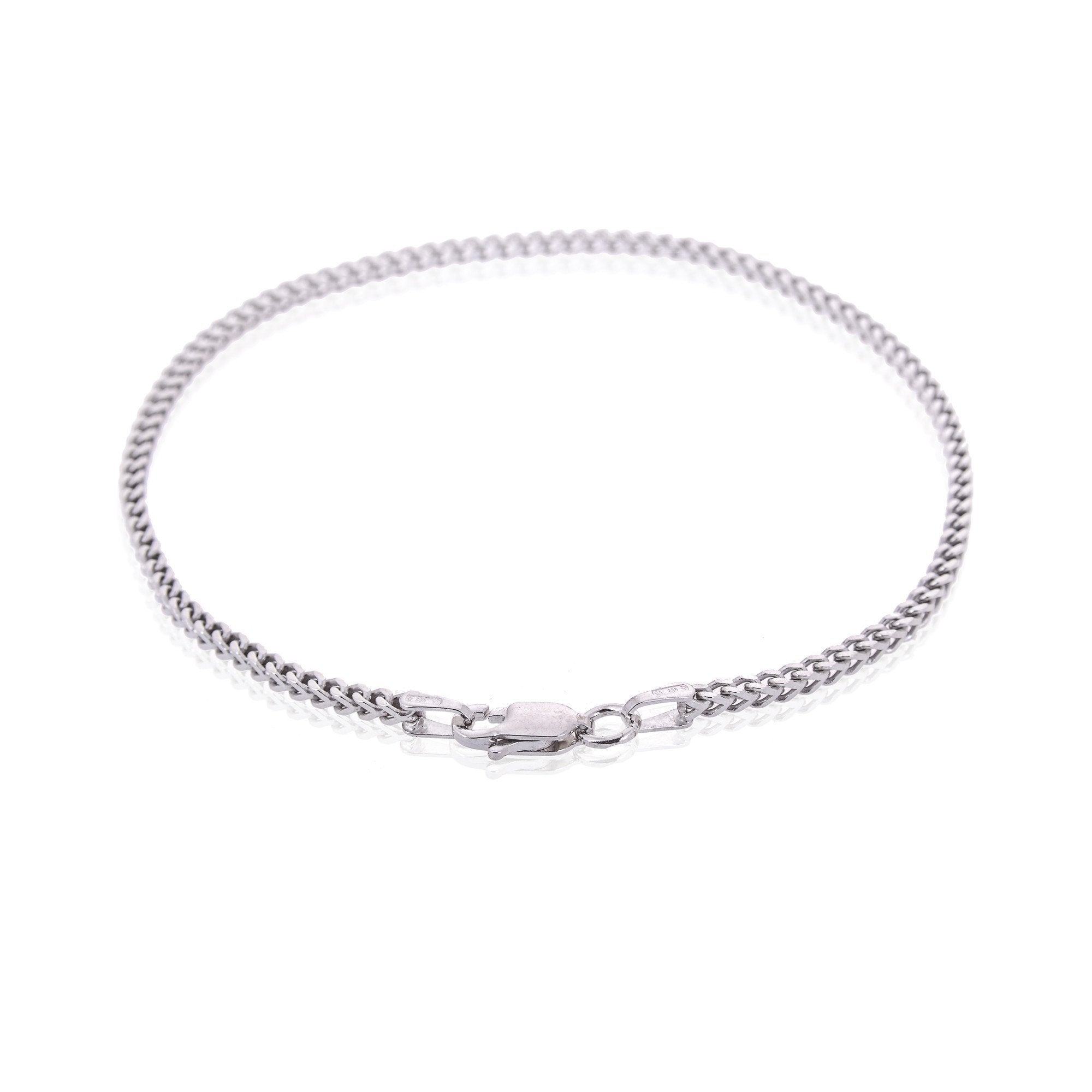 fd0331e1a237 Sterling Silver Mens Bracelets - AG-925 Men s Sterling Silver Franco Chain  Type Bracelet