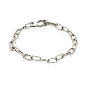 Sterling Silver Mens Bracelets - Men's Sterling Silver Cable Bracelet