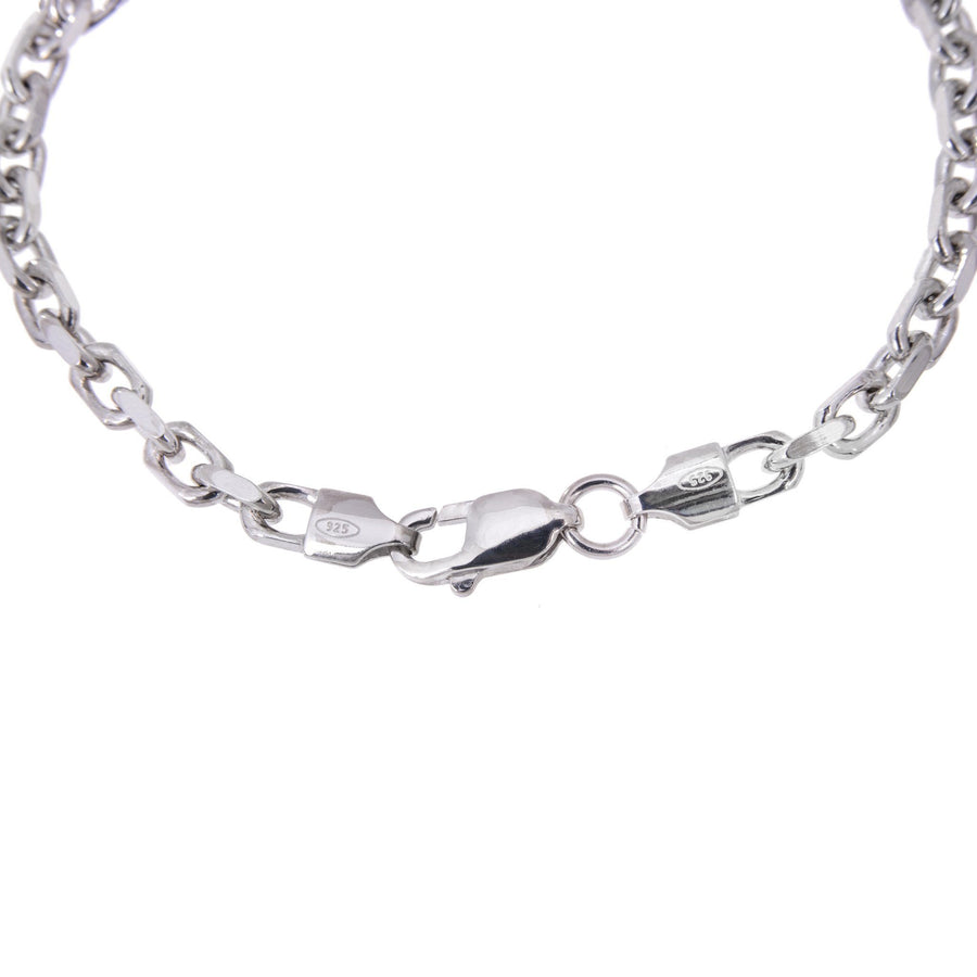 Sterling Silver Mens Bracelets - Men's Sterling Silver Cable Chain Bracelet