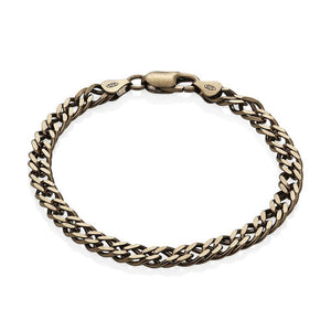 Sterling Silver Mens Bracelets - Men's Sterling Silver Chocolate Colour Bracelet