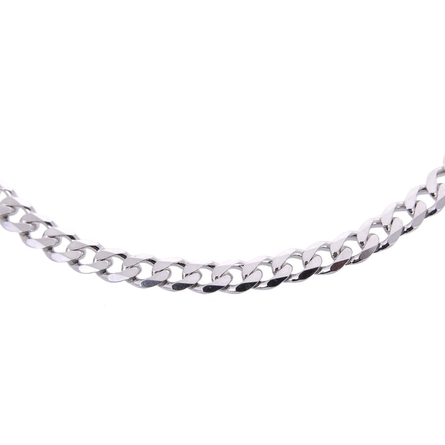 Sterling Silver Mens Bracelets - Men's Sterling Silver Gourmette Chain Type Bracelet