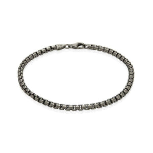 Sterling Silver Mens Bracelets - Men's Sterling Silver Narrow Bracelet