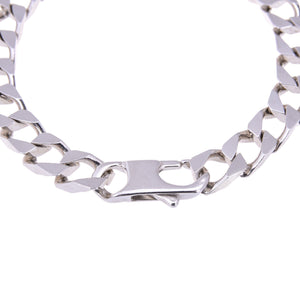 Sterling Silver Mens Bracelets - Men's Sterling Silver Wide Chain Bracelet